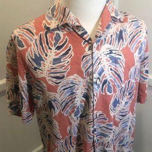 Tommy Bahama Hawaiian Silk Shirt Sz L